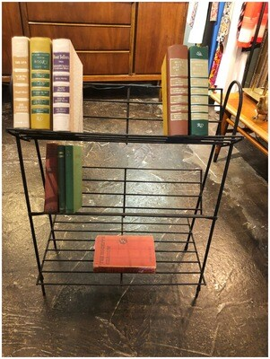 Mid Century Black Metal Book Stand