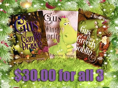 Holiday Gus the Garden Dragon 3-book Set