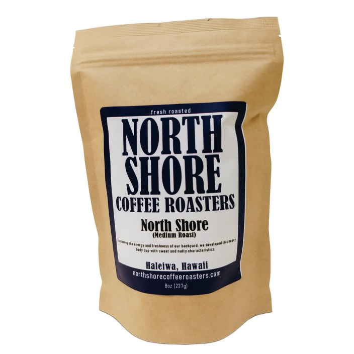 North Shore Medium Roast Coffee, 8 oz - Whole Bean