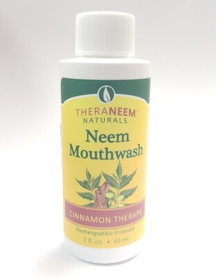 Travel Size TheraNeem Naturals Mouthwash Cinnamon Therape
