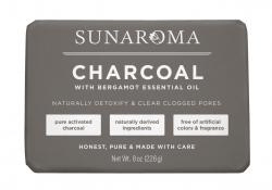 Sunaroma Soap - Charcoal With Bergamot Essential Oil 8oz