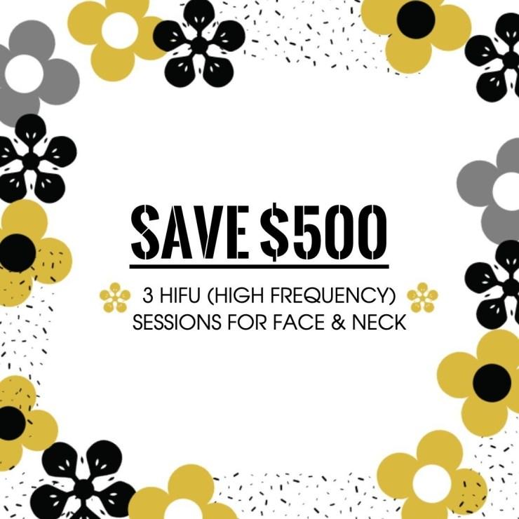 HIFU Treatment Face & Neck