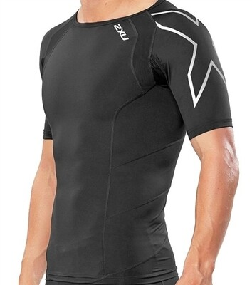 Short Sleeve Compression Aerobic Top