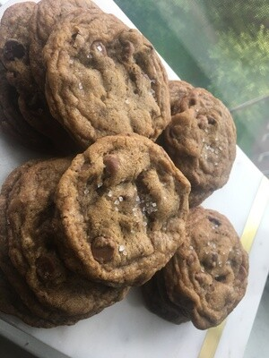 Fleur de Sel Brown Butter Chocolate Chip Cookies