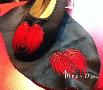 REstore0307-蟹爪菊繡花拖鞋鞋面基礎工作坊(指定款式)