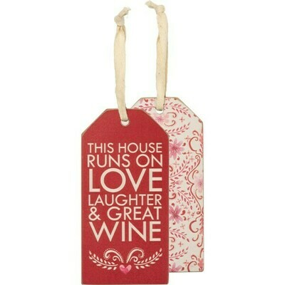 #4099, #40100, #40101 & #40102 This House Runs Wooden Bottle Tag