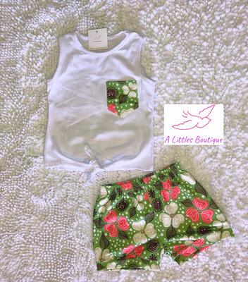 (160-2) Tie Tank w/ Floral Shorts 5