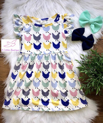 (165-1) Colorful Chicken Dress 5/6
