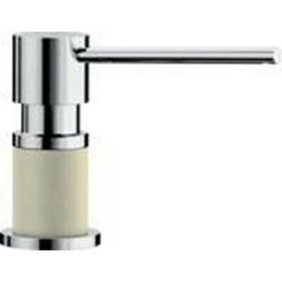 Blanco Lato Soap Dispenser - Biscuit/Chrome Dual Finish