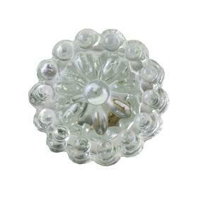 Charleston Knob Company   ROUND GLASS CRYSTAL CLEAR CABINET KNOB