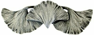 Notting Hill Pull Ginkgo Leaf Antique Pewter  4-3/8