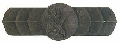 Notting Hill Cabinet Pull Cockatoo (Horizontal - Left side) Dark Brass 4-1/4