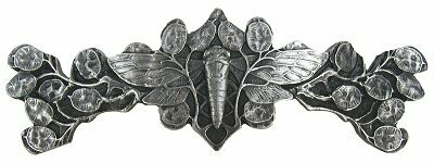 Notting Hill Cabinet Pull Cicada on Leaves Antique Pewter 4