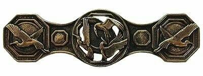 Notting Hill Cabinet Pull Crane Dance Brite Brass 3-7/8