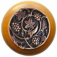 Notting Hill Cabinet Knob Grapevines/Maple Antique Copper 1-1/2