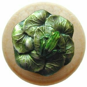 Notting Hill Cabinet Knob Leap Frog/Natural Pewter Hand Tinted 1-1/2