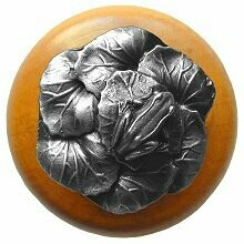 Notting Hill Cabinet Knob Leap Frog/Maple Antique Pewter  1-1/2