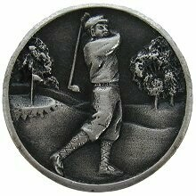 Notting Hill Cabinet Knob Gentleman Golfer Antique Pewter  1-1/8