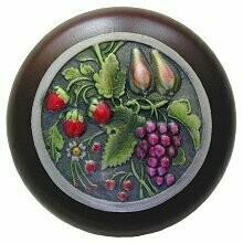 Notting Hill Cabinet Knob Tuscan Bounty/Dark Walnut Pewter Hand Tinted 1-1/2