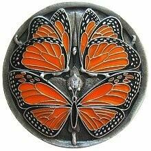 Notting Hill Cabinet Hardware Monarch Butterflies Pewter Enameled 1-3/8