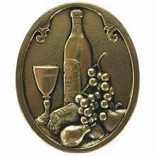 Notting Hill Cabinet Knob Best Cellar (Wine) Brite Brass 1-1/4