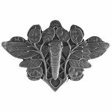 Notting Hill Cabinet Hardware Cicada on Leaves Antique Pewter 2