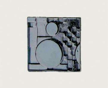 Emenee Decorative Cabinet Hardware Mission Knob Square with Circles