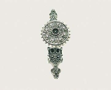 Emenee Decorative Cabinet Hardware Florentine Ornate Pull-Backplate