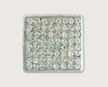 Emenee Decorative Cabinet Hardware Lg Square Rhinestone 1-1/8