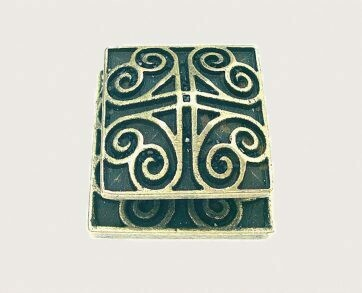 Emenee Decorative Cabinet Hardware Square Swirl Knob/Backplate