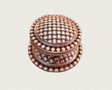 Emenee Decorative Cabinet Hardware Medici Basketweave Knob 1-1/2