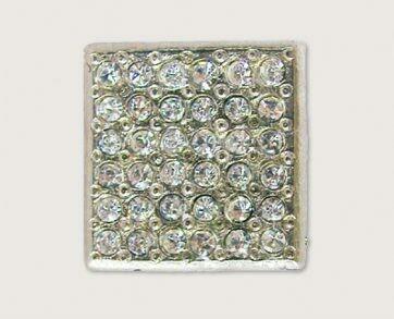 Emenee Decorative Cabinet Hardware Small Square Rhinestone  7/8
