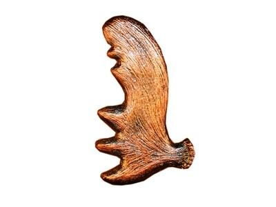 Buck Snort Lodge Hardware Moose Antler Cabinet Pull Facing Right