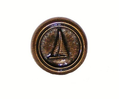 Buck Snort Lodge Decorative Hardware Cabinet Knobs and Pulls Small Sailboat Round