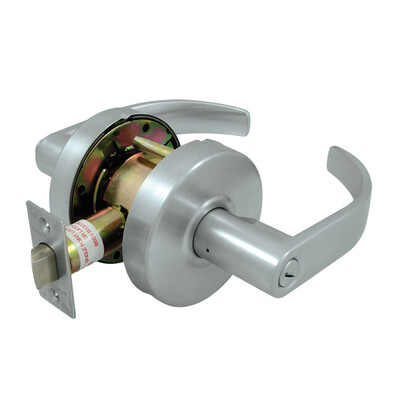 Deltana Architectural Hardware Commercial Locks: Pro Series Comm. Privacy Standard GR2, Curved w/ Cylinder each