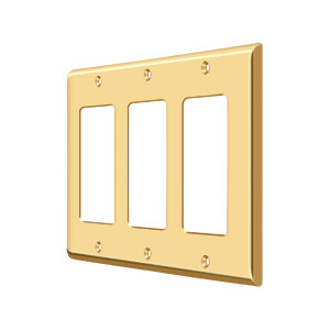 Deltana Architectural Hardware Home Accessories Switch Plate, Triple Rocker each