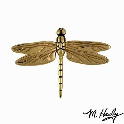 Michael Healy Designs Dragonfly in Flight Door Knocker - Brass-Standard