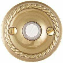 Emtek Door Hardware Brass Door Bell with Plate and Button  Rope Rosette