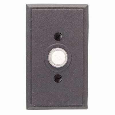 Emtek Door Hardware Tuscany Bronze Door Bell with Plate and Button  # 3 Rosette