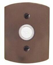 Emtek Door Hardware Sandcast Bronze Door Bell with Plate and Button  # 4 Rosette