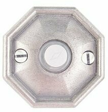 Emtek Door Hardware Tuscany Bronze Door Bell with Plate and Button  # 15 Rosette