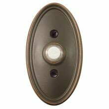 Emtek Door Hardware Brass Door Bell with Plate and Button  Oval Rosette