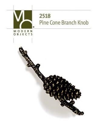 Modern Objects Designer Hardware Pinecone Branch Cabinet Knob