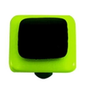 Hot Knobs Glass Cabinet Knob Spring Green Border Collection Black