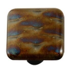 Hot Knobs Metal Glass Cabinet Knob Patterned Irid