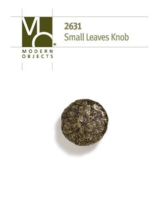 Modern Objects Designer Hardware Tree Leaves Cabinet  Knob Small