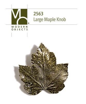 Modern ObjectsDesigner Hardware Large Maple Leaf Cabinet Knob
