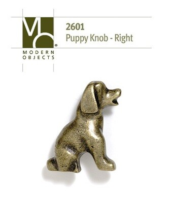 Modern Objects Designer Hardware Puppy Cabinets Knob Facing Right