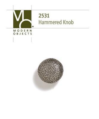 Modern ObjectsDesigner Hardware Industrial Hammered Cabinet Knob