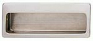 Hafele Cabinet Hardware, Mortise Pull, brass, nickel polished, 100 x 39mm